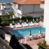 Bułgaria tania - widok z okna hotelu na basen, który byl naszą ostoją